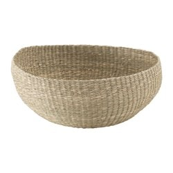 "SINNERLIG basket, seagrass Diameter: 18 "" Height: 7 "" Diameter: 46 cm Height: 18 cm"