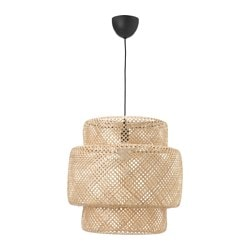 "SINNERLIG pendant lamp, bamboo Max.: 60 W Height: 21 "" Diameter: 20 "" Max.: 60 W Height: 54 cm Diameter: 50 cm"
