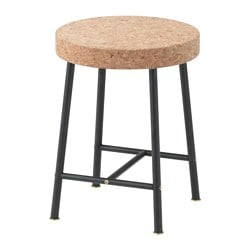 SINNERLIG stool, cork natural Tested for: 100 kg Seat diameter: 35 cm Height: 45 cm