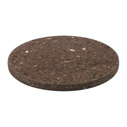 "SINNERLIG trivet, cork dark brown Diameter: 12 "" Thickness: 1 "" Diameter: 30 cm Thickness: 20 mm"
