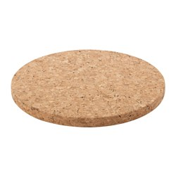 SINNERLIG pot stand, cork natural Diameter: 30 cm Thickness: 20 mm