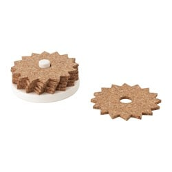 TILLFÄLLE coasters with holder, cork, white