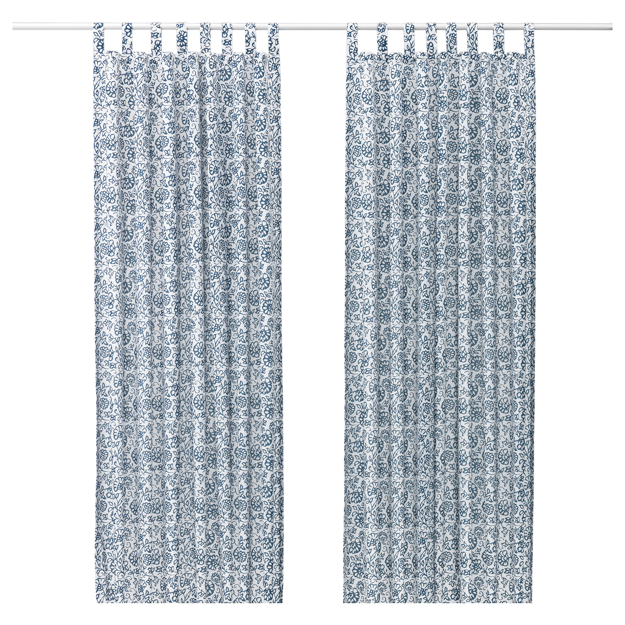 Yellow curtains ikea - Mj Lk Rt Curtains 1 Pair Blue White Length 98 Width 57