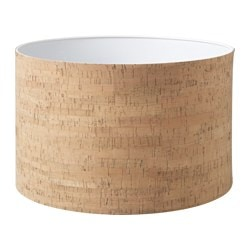 TILLFÄLLE lamp shade, cork Diameter: 37 cm Height: 24 cm