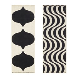 TILLFÄLLE rug, flatwoven, assorted patterns Length: 225 cm Width: 75 cm Area: 1.67 m²