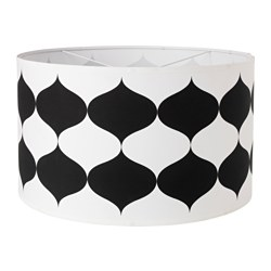 TILLFÄLLE lamp shade, black/white Diameter: 59 cm Height: 35 cm