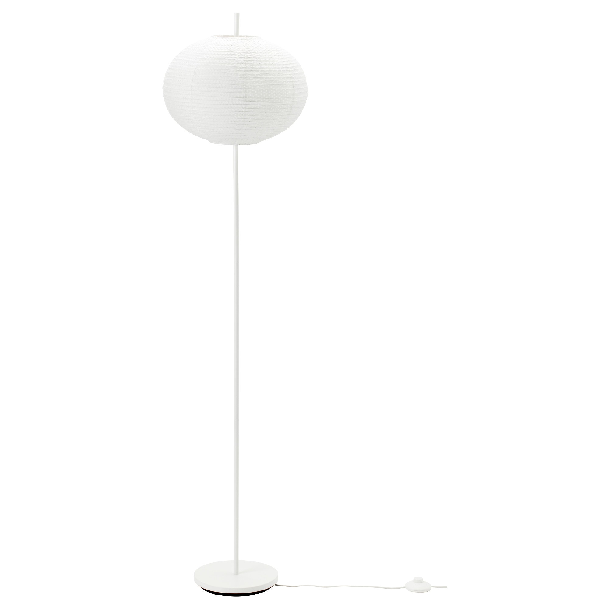 Unique white floor lamps - Sollefte Floor Lamp With Led Bulb Round White White Max 75 W Height