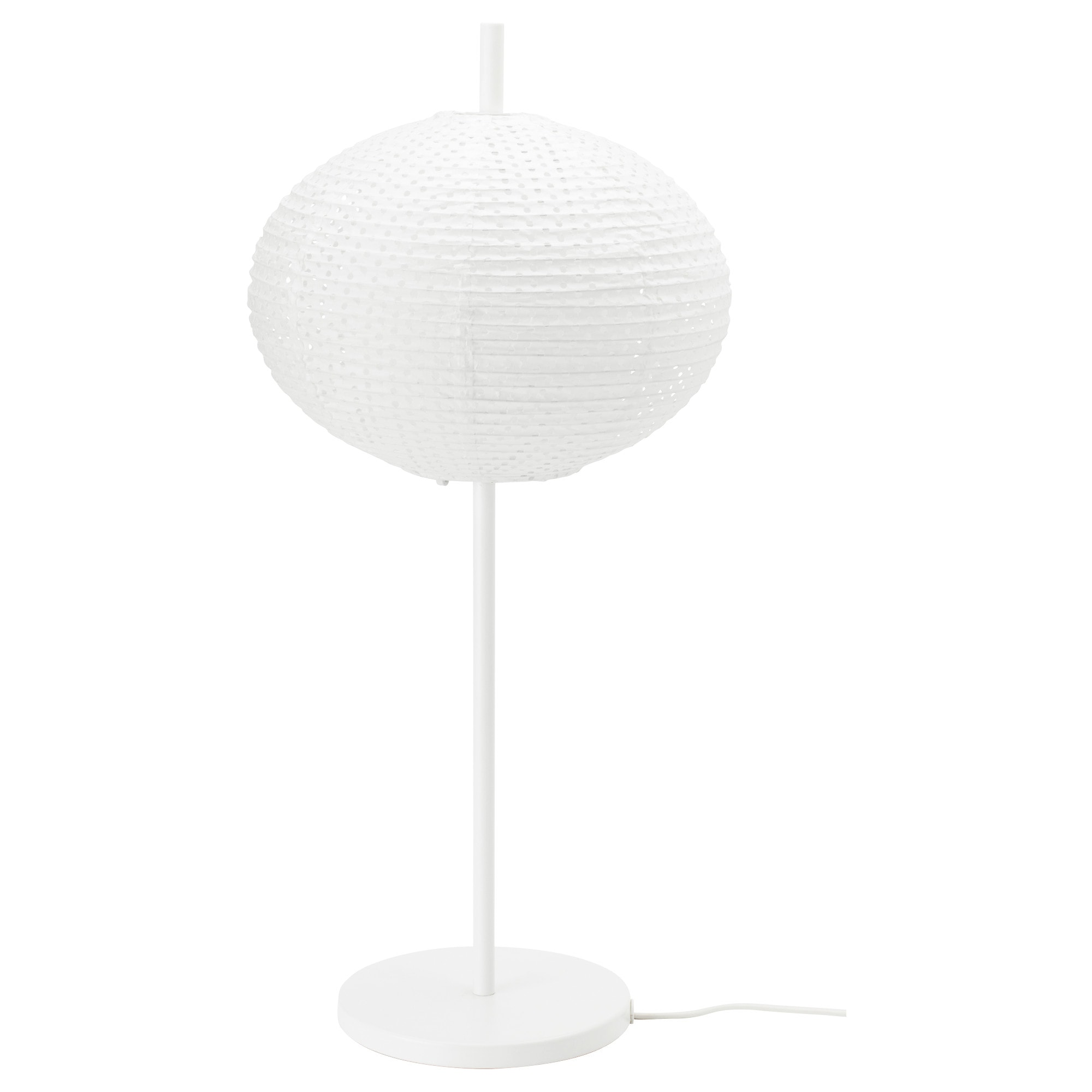 SOLLEFTEÅ Table Lamp With LED Bulb, White Max.: 40 W Shade Width: