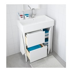 Exceptional YDDINGEN Wash Stand With 2 Drawers/1 Door, White, 74x90 Cm