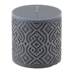 VINTER 2015 unscented block candle, grey Diameter: 9 cm Height: 9 cm Burning time: 30 hr