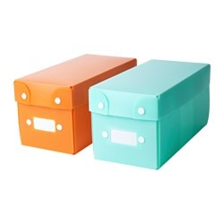 TJENIS storage box, assorted colours Length: 11 cm Width: 23 cm Height: 11 cm