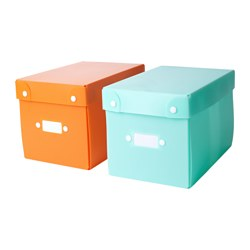 TJENIS storage box, assorted colours Length: 15 cm Width: 23 cm Height: 15 cm