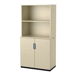GALANT storage combination with doors, birch veneer Width: 80 cm Depth: 45 cm Height: 160 cm