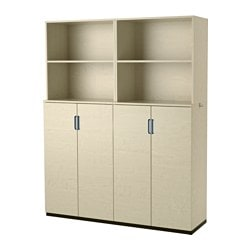 GALANT storage combination with doors, birch veneer Width: 160 cm Depth: 45 cm Height: 200 cm