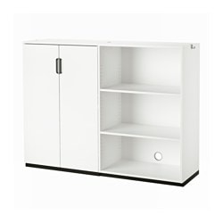 "GALANT storage combination, white Width: 63 "" Depth: 17 3/4 "" Height: 47 1/4 "" Width: 160 cm Depth: 45 cm Height: 120 cm"