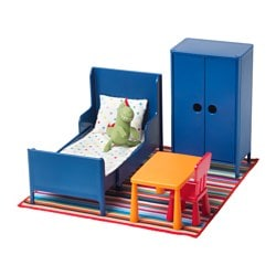 HUSET doll's furniture, bedroom Length: 32 cm Width: 21 cm Height: 17 cm