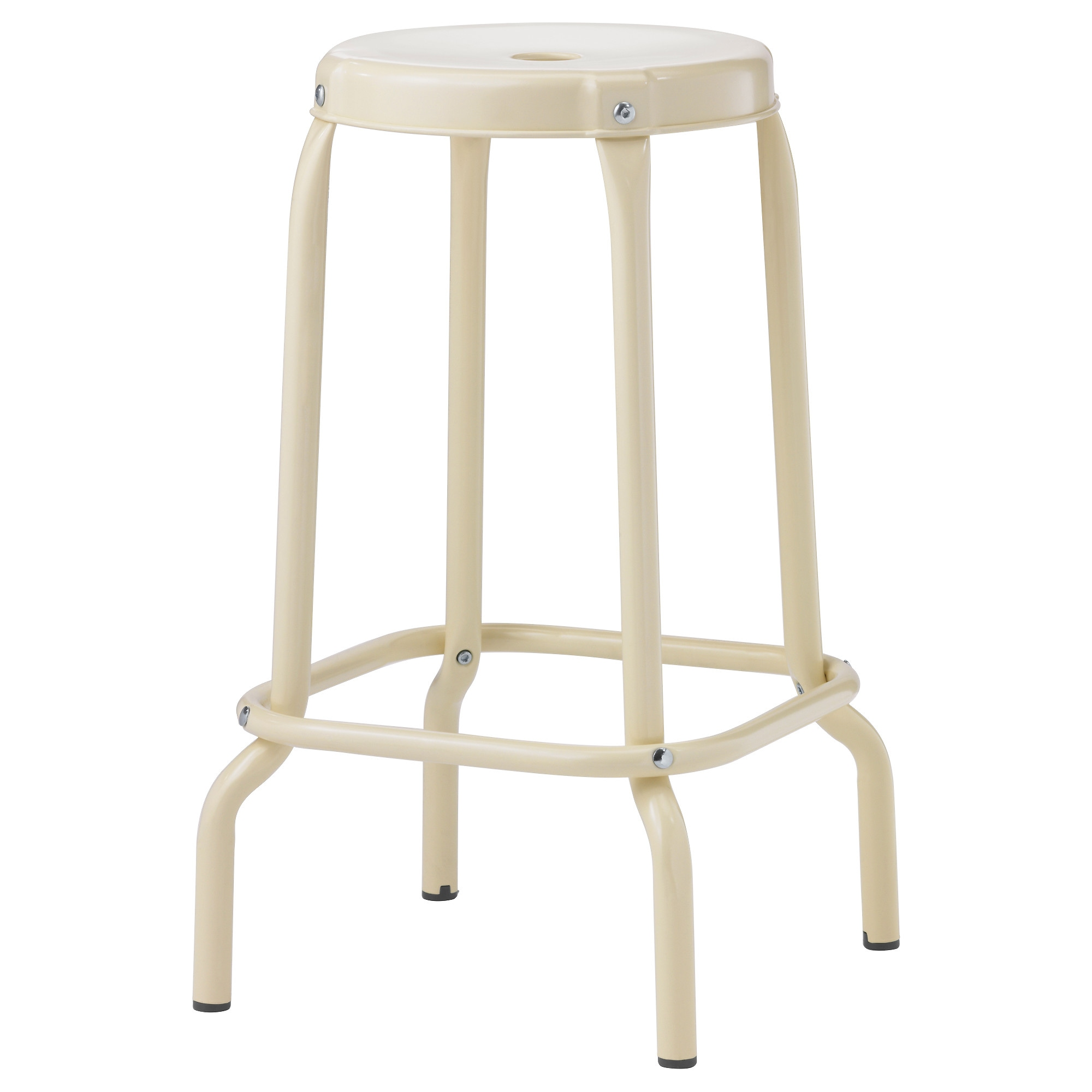 RÅSKOG Bar Stool, Beige Tested For: 220 Lb Seat Diameter: 11 3/