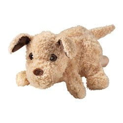"HUNDTASS glove puppet, light brown, dog Length: 9 "" Length: 23 cm"