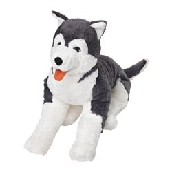 LIVLIG soft toy, dog husky, siberian husky Length: 57 cm