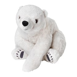 SNUTTIG soft toy, polar bear, white Length: 60 cm