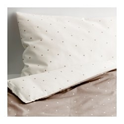 ÄLSKAD 4-piece bedlinen set for cot, white, beige Quilt cover length: 125 cm Quilt cover width: 110 cm Pillowcase length: 55 cm