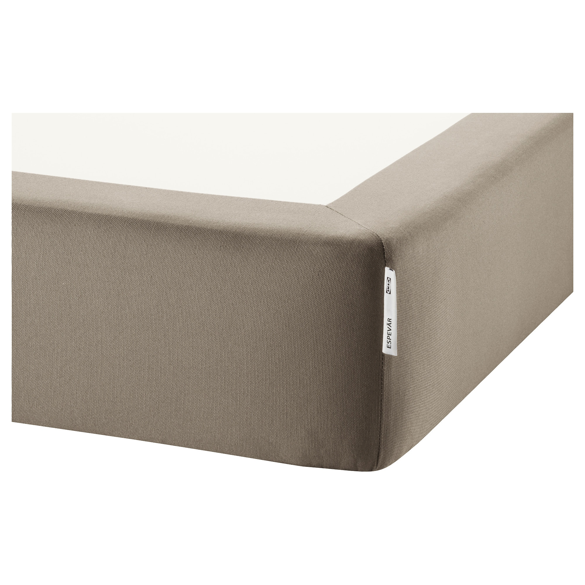 Single bedroom top view - Espev R Slatted Mattress Base For Bed Frame Dark Beige Length 79 1 2