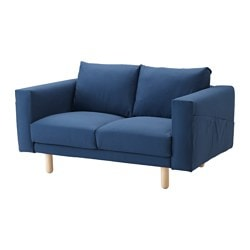 NORSBORG cover two-seat sofa, Gräsbo dark blue