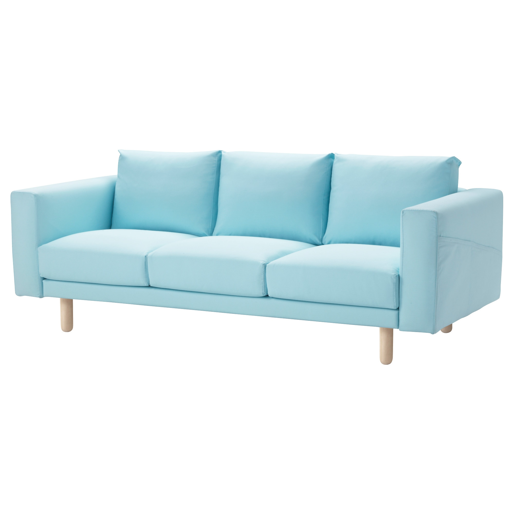 Superb NORSBORG Sofa   Edum Light Blue, Birch   IKEA