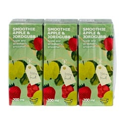 SMOOTHIE ÄPPLE & JORDGUBB apple- and strawberry smoothie Volume: 20 oz Volume: 600 ml