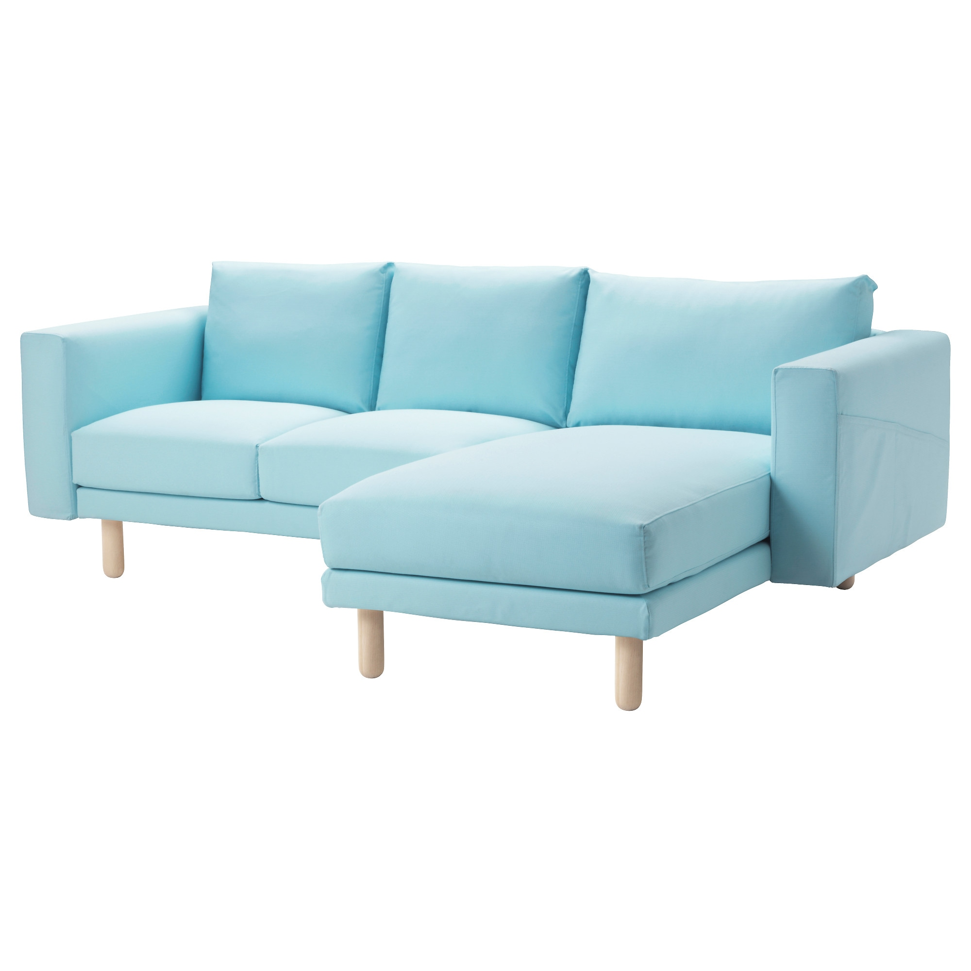 NORSBORG Cover for 3 seat sectional Edum light blue IKEA