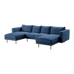 NORSBORG cover 2-seat sofa+2 chaise longues, Edum dark blue