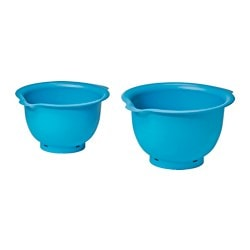 VISPAD mixing bowl, set of 2, turquoise