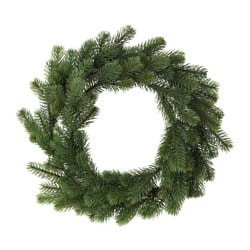 "SMYCKA artificial wreath, spruce Diameter: 17 ¾ "" Diameter: 45 cm"