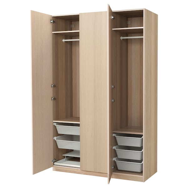pax kleiderschrank eicheneff wlas nexus eichenfurnier wei lasiert ikea. Black Bedroom Furniture Sets. Home Design Ideas