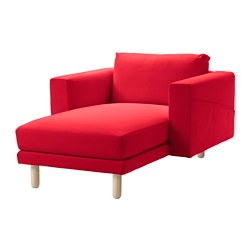 NORSBORG chaise cover, Finnsta red