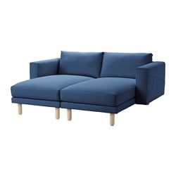 "NORSBORG 2 chaises, birch, Edum dark blue Width: 74 "" Depth: 61 3/4 "" Height under furniture: 7 1/8 "" Width: 188 cm Depth: 157 cm Height under furniture: 18 cm"