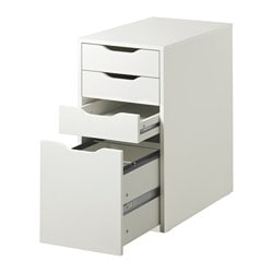 Alex Drawer Unit Drop File Storage White
