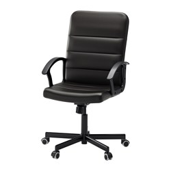"TORKEL swivel chair, Bomstad black black Tested for: 242 lb 8 oz Width: 23 1/4 "" Depth: 25 5/8 "" Tested for: 110 kg Width: 59 cm Depth: 65 cm"