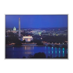 "MYRARP picture, Washinghton D.C. by night Width: 55 "" Height: 39 ¼ "" Width: 140 cm Height: 100 cm"