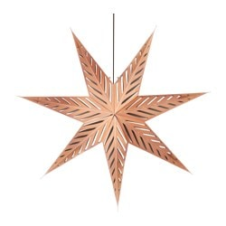 STRÅLA pendant lamp, star bronze-colour Diameter: 100 cm Cord length: 3.0 m