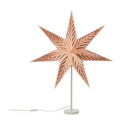 "STRÅLA table lamp, star bronze color Diameter: 18 "" Height: 33 "" Cord length: 6 ' 7 "" Diameter: 45 cm Height: 85 cm Cord length: 2.0 m"