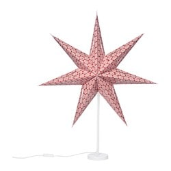 "STRÅLA table lamp, star red Diameter: 18 "" Height: 33 "" Cord length: 6 ' 7 "" Diameter: 45 cm Height: 85 cm Cord length: 2.0 m"