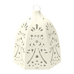 "STRÅLA LED lantern, battery operated, lace white Diameter: 59 "" Height: 8 "" Package quantity: 1 pack Diameter: 150 cm Height: 20 cm Package quantity: 1 pack"