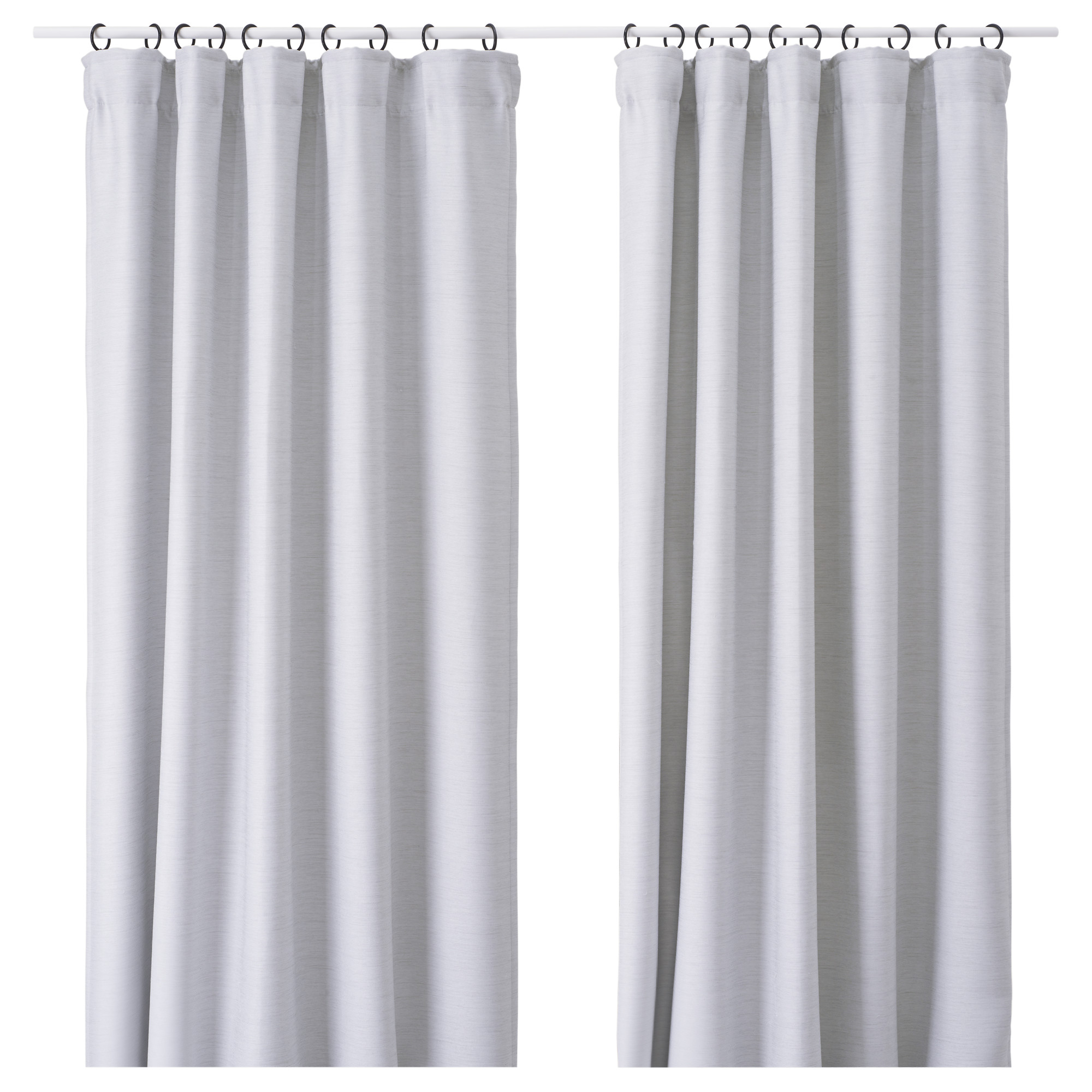 Black and white curtains bedroom - Vilborg Curtains 1 Pair Light Gray Length 98 Width 57