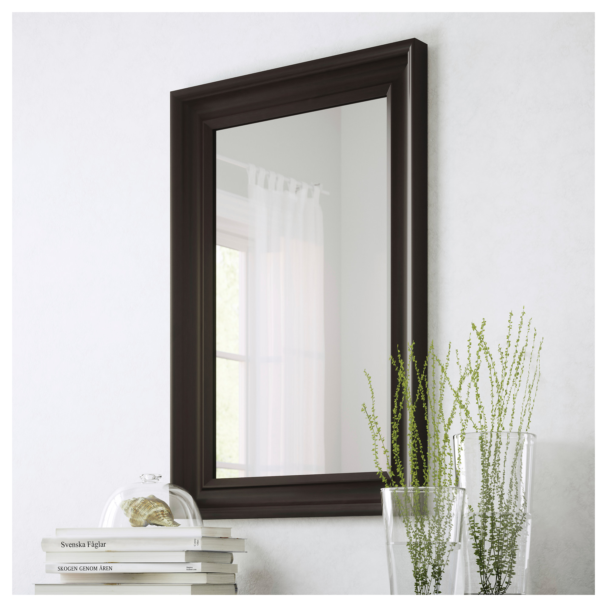 Framed Bathroom Mirrors At Ikea hemnes mirror - black-brown - ikea