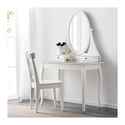 HEMNES Dressing Table With Mirror, White. IKEA FAMILY Member Price