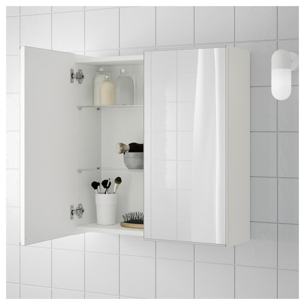 Mirror Cabinet With 2 Doors LILL NGEN White