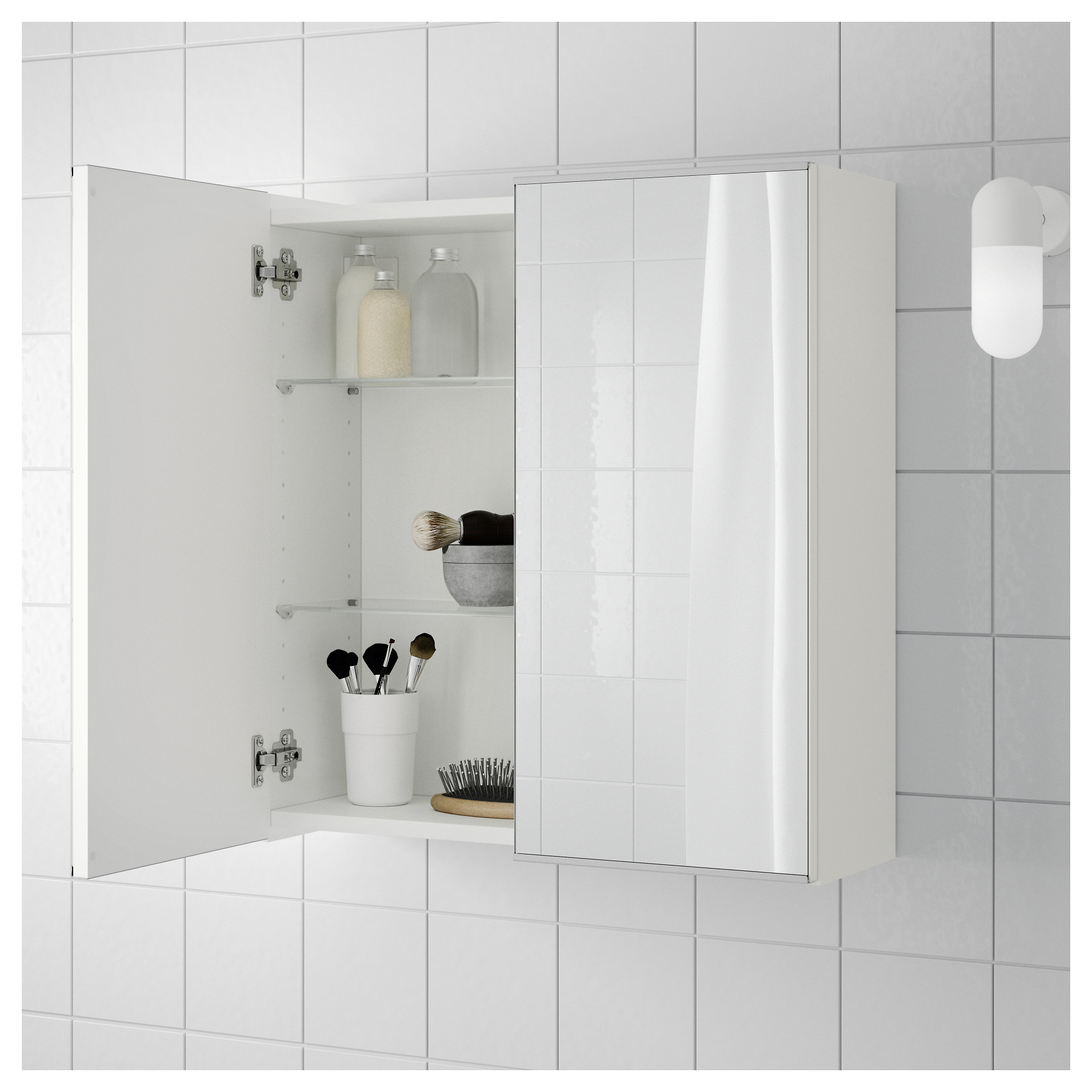 Mirror Cabinet With 2 Doors LILLÅNGEN White