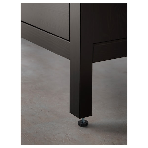High Cabinet With Mirror Door Hemnes Black Brown Stain