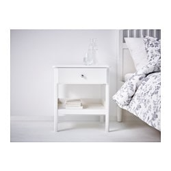 tyssedal table chevet blanc ikea family - Ikea Table De Nuit